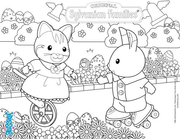 37 best images about Crafty (Sylvanian Families) Coloring