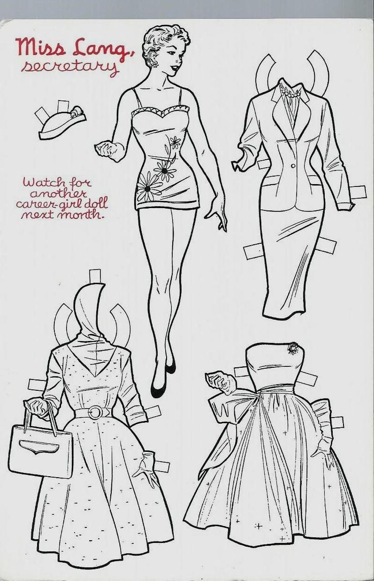 Miss Lang Secretary Career-Girl Stella Marrs Paper Doll