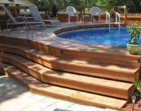 Best 25+ Above ground pool decks ideas on Pinterest