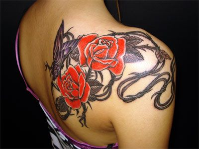 20 Bob Wire And Rose Tattoos Ideas And Designs
