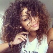 big curly hair colombiana