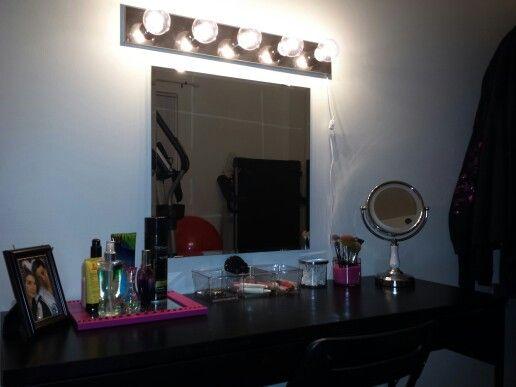 DIY Makeup Vanity Ikea Micke desk 60 Ikea Mirror 10