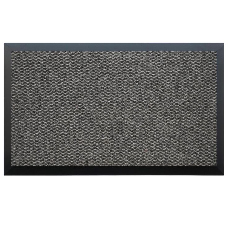 trapunto monogrammed entry mat