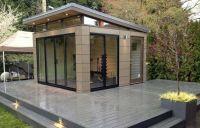 Exterior Sliding Glass Door On Modern Shed Design Ideas ...