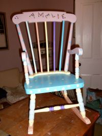 Childs Rocking Chair With Name - WoodWorking Projects & Plans