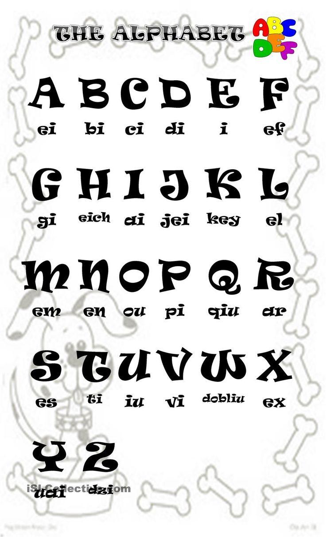 25+ Best Ideas about English Alphabet Pronunciation on