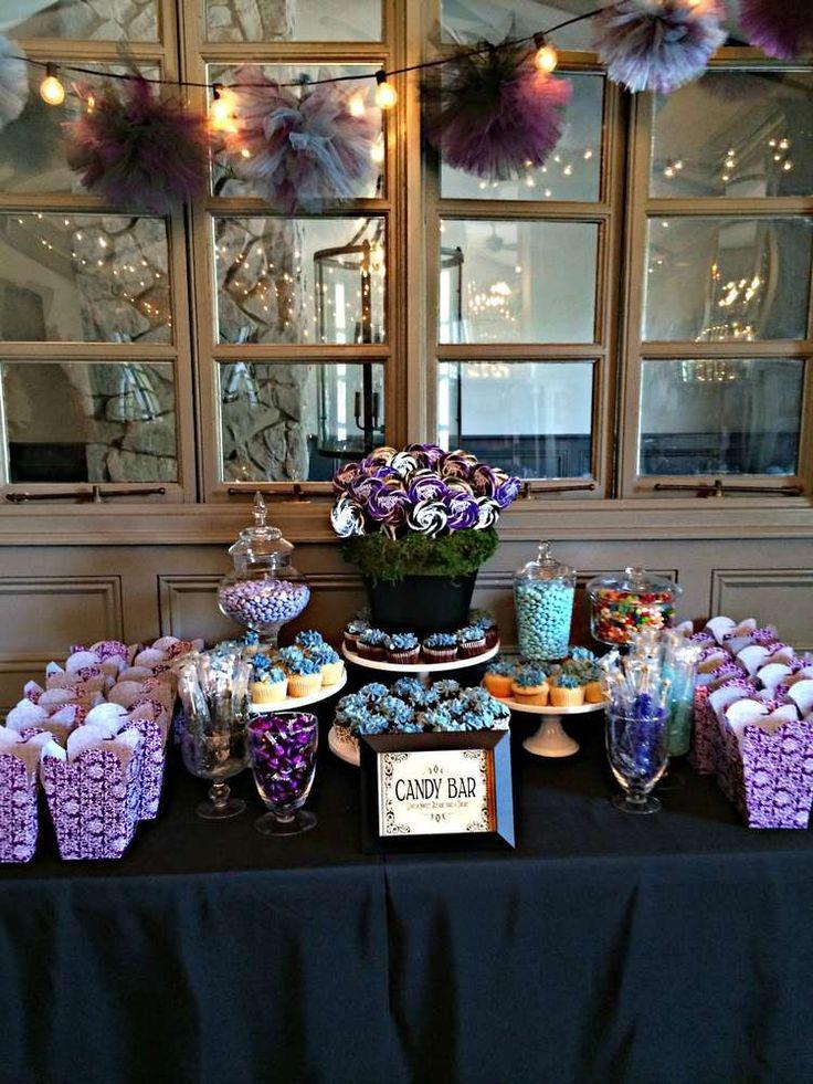 Black White Purple  Blue BridalWedding Shower Party Ideas  Shower party