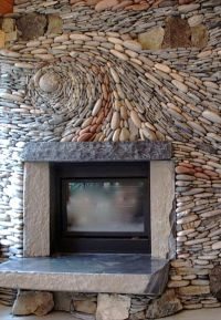 river rock tile | River Rock Fireplace by Ancient Art of ...