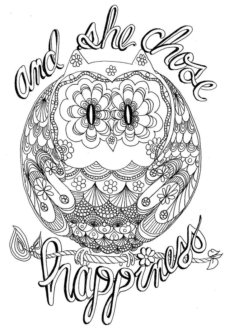 17 Best images about Owl-Adult coloring pages on Pinterest