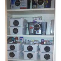 Newly organized bathroom cabinet | Household organization ...