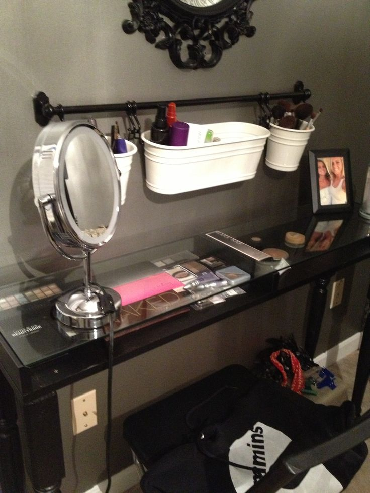 Maddies ikea hack makeup table  Love It  Pinterest  For the Accessories and Ikea hacks