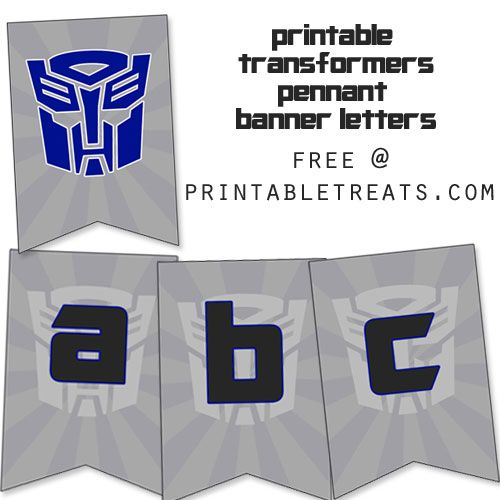 Printable Transformers Birthday Banner from
