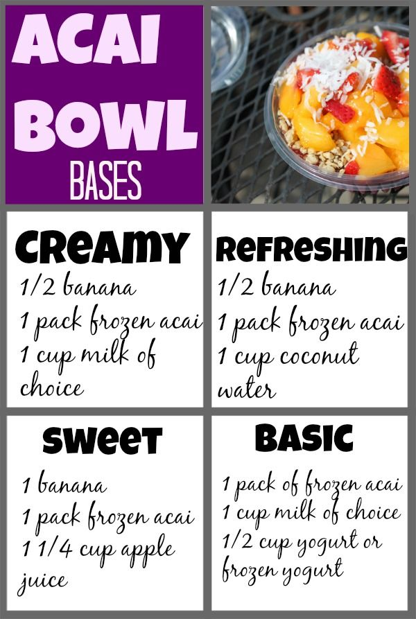 Acai bowl bases, combos + how to make an acai bowl at home. These are an amazing summer snack or meal, but can cost around $8. make them for much less at