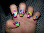 nails #nail #design #bright