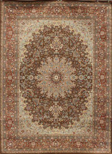 beautiful kitchen rugs cabinets martha stewart chocolate brown traditional isfahan wool persian area ...