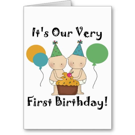 17 Best Images About Birthday Card For Twins On Pinterest
