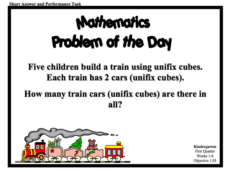 Download a series of Problem of the Day resources for K