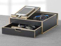 New Dresser Valet Men Storage Wallet Cell Phone Watch ...