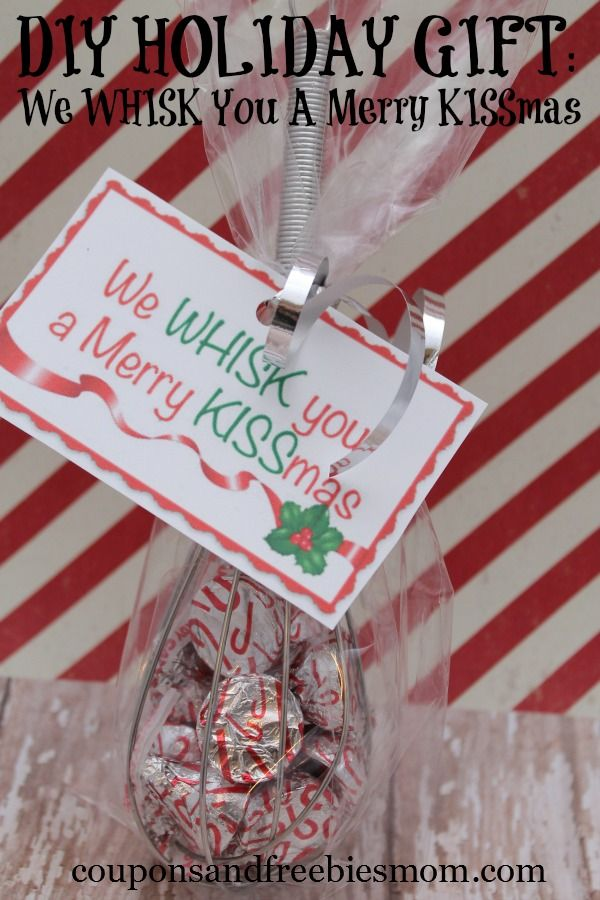 "DIY Holiday Gift We ""Whisk"" You A Merry ""KISSmas""! Cute"