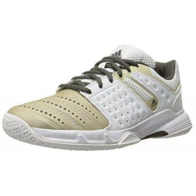 adidas performance womens court stabil w tennis shoe white star metallic tech