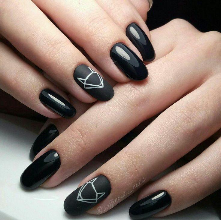 25+ best ideas about Matte black nails on Pinterest