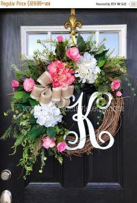 17 Best ideas about Burlap Wreath Monogram on Pinterest ...