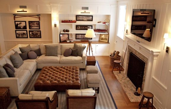 Brooke Giannetti Comfy, Cozy Living Space With With Modern