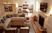 family room layout Giannetti Home: Comfy, cozy living ...