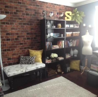 Brick wallpaper  Apartment  Pinterest  Furniture