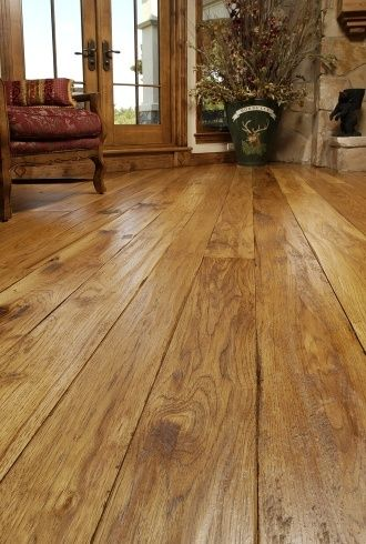 Hickory Hardwood Wide Plank Flooring Decorating Rustic