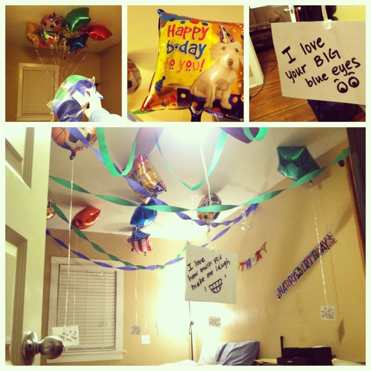 Surprise birthday decorations for the boyfriend! He loved ...
