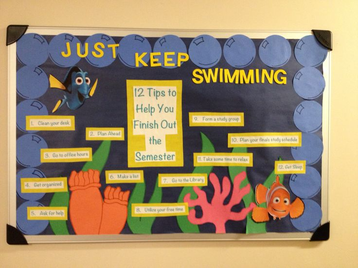End of the semester finding nemo theme board