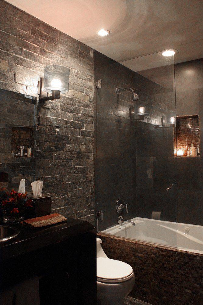 1000 Images About Bathroom Stone Veneer Ideas On