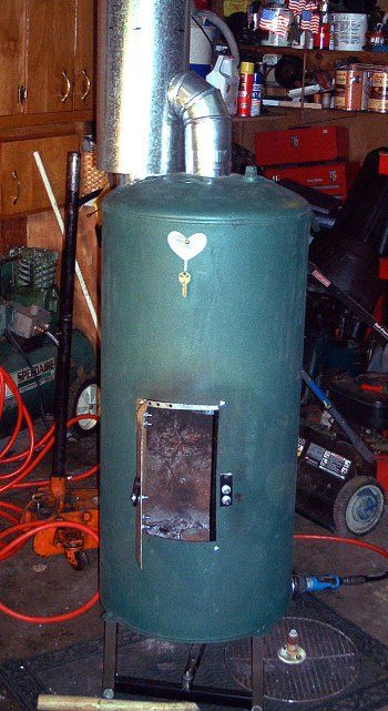 furnace thermostat wiring diagram roman soldier 91 best waste motor oil drip heater bertha made from an old empty upright propane cylinder ...