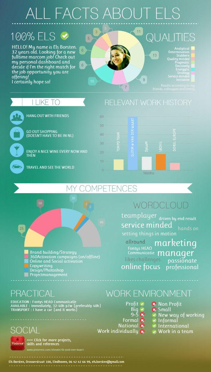 Dashboard Els Borsten 2014 #infographic #CV Made In