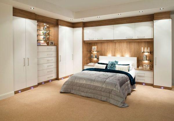 built in bedroom furniture ideas built-in wardrobe around bed - Corner furniture for space