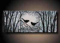 "3 Piece Wall Art, Love Birds on Tree, Three 8"" x 10"" Piece"