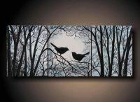 "3 Piece Wall Art, Love Birds on Tree, Three 8"" x 10"" Piece ..."