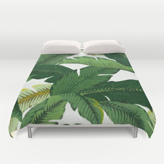 Palm Leaf Duvet Cover palm leaves print duvet covers