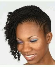 mini twist updo natural hairstyles