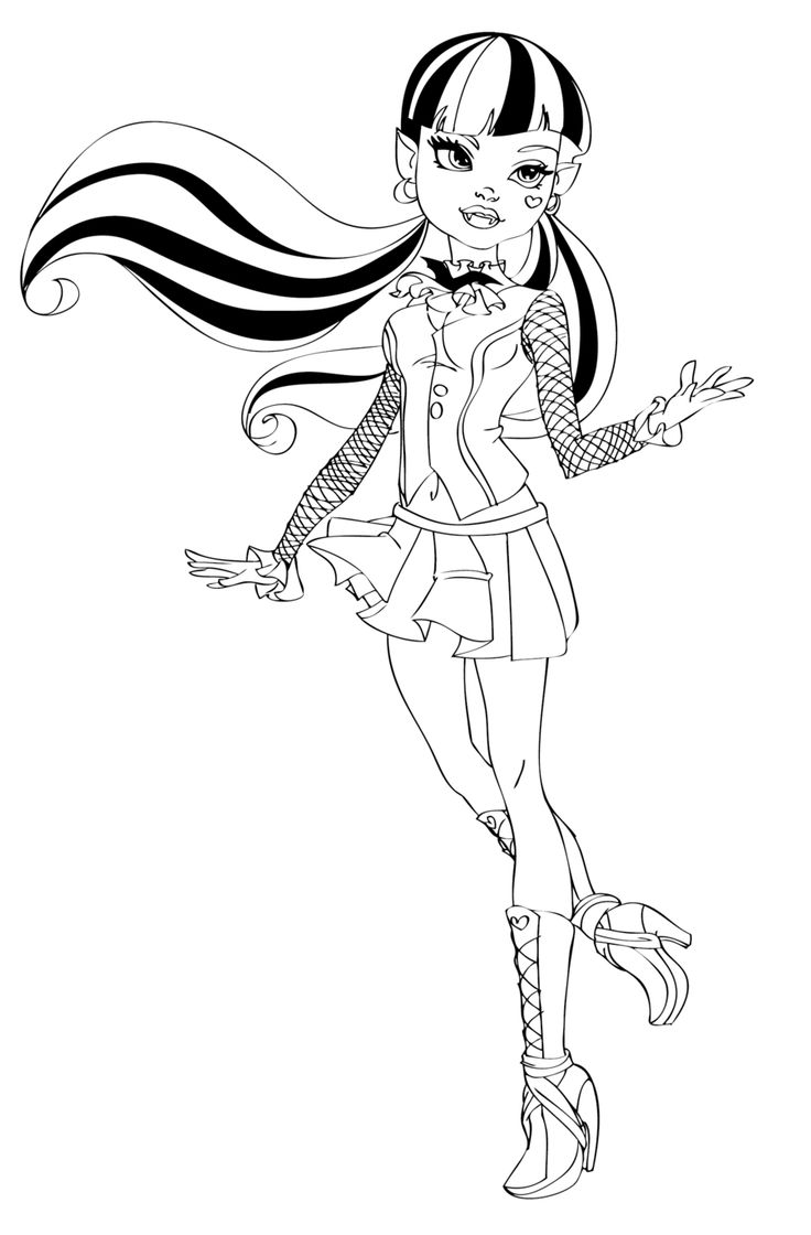 268 best images about Colouring~Bratz~Monster High~Moxie