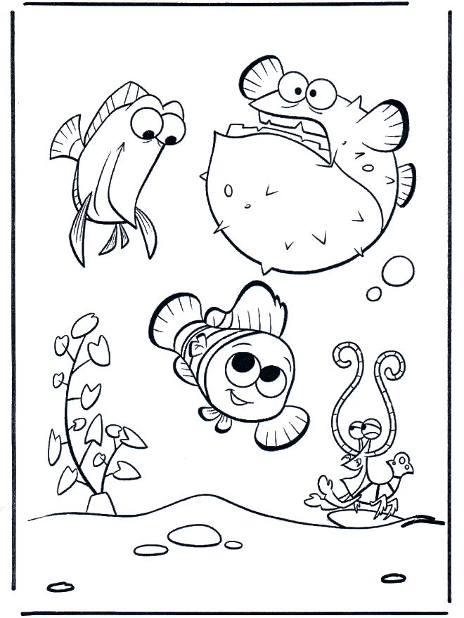A is for aquarium! [coloring page] TONS of Kids & Bible