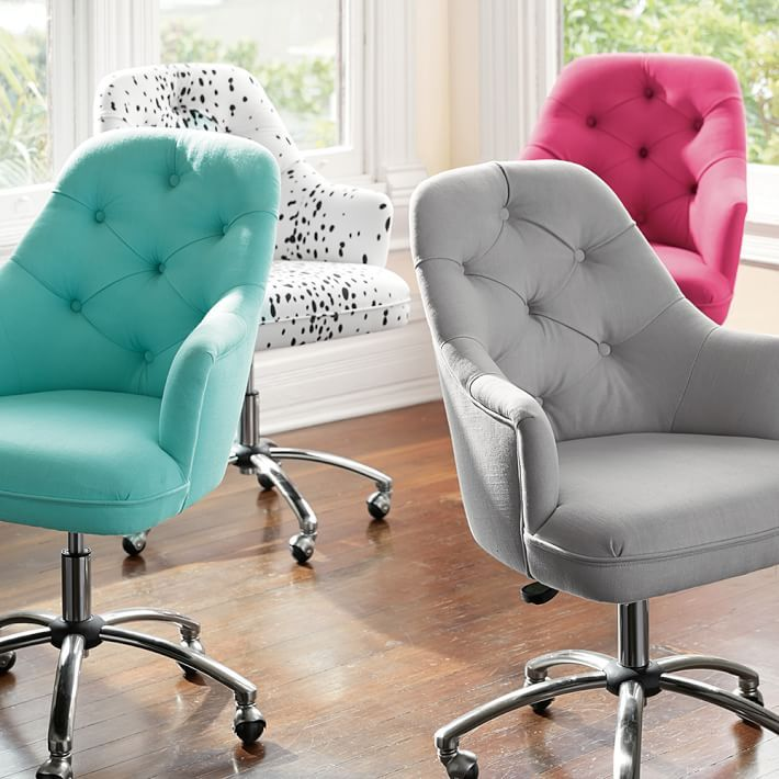 office chairs without wheels and arms ikea dining chair covers henriksdal tufted desk chair- check it out featured in a diy with maybaby | study ideas pinterest grey ...