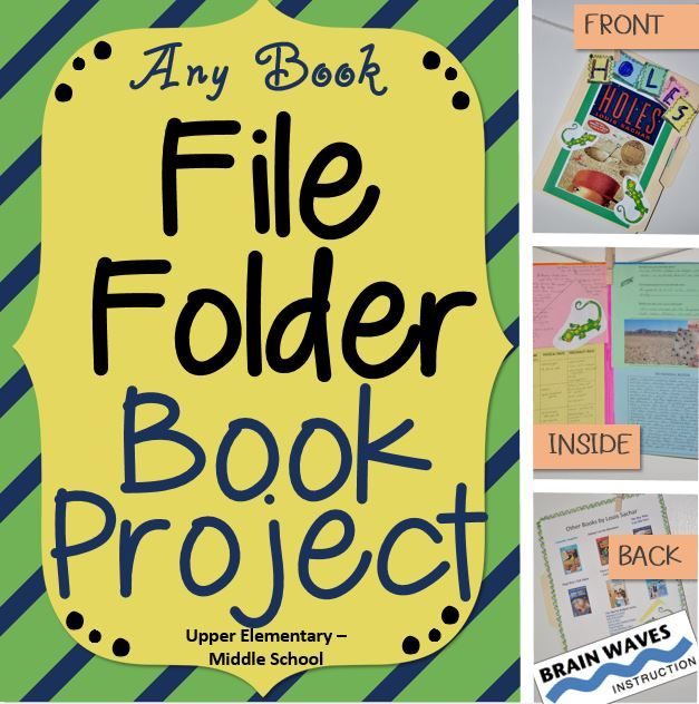 Book report in a file folder | Write a science lab