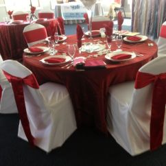 Gold Chair Covers With Black Sash White High Cover And Red #chaircovers #chaircover #sash #red #white #christmas #decor # ...