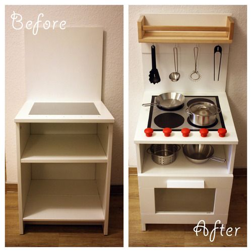 ikea ideas for small kitchens refacing kitchen cabinets before and after diy play made from a bedside cabinet | ...