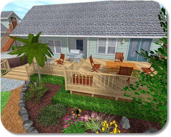 landscaping deck gardening