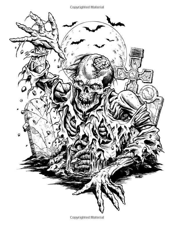 110 best images about adult horror coloring pages on