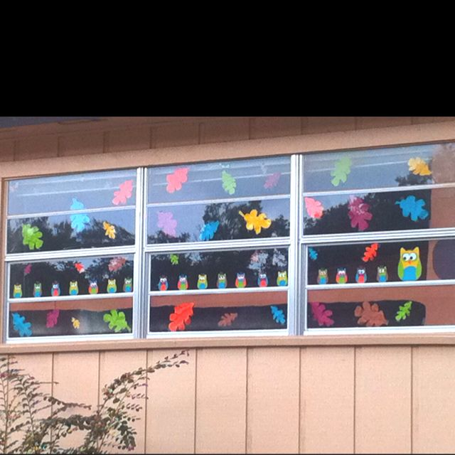 25+ best ideas about Fall Window Decorations on Pinterest