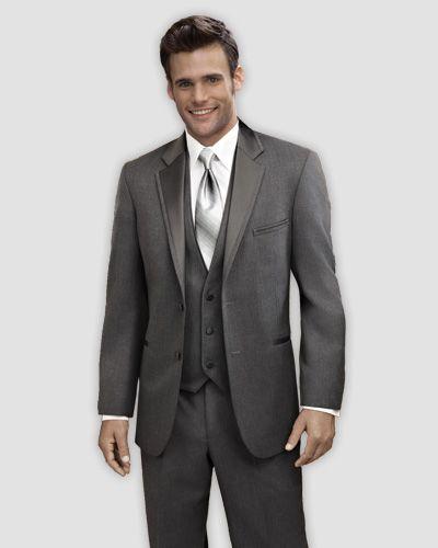 Twilight Grey Notch Tuxedo Prom Wedding Tip Top Tux  Tuxedos  Pinterest  Whats the